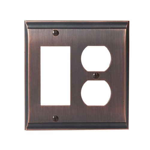 Amerock Candler One Rocker , One Receptacle Wall Plate Oil Rubbed Br BP36511ORB
