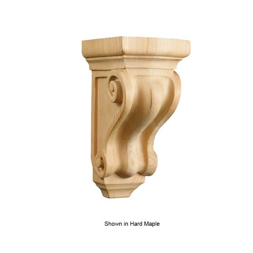 Brown Wood Petite Corinthian Corbel Unfinished Paint Grade 01605000PT1