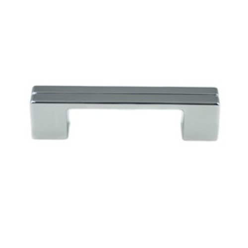 Skyline 3-3/4 Inch Center to Center Polished Chrome Cabinet Pull <small>(#9201-1026-P)</small>