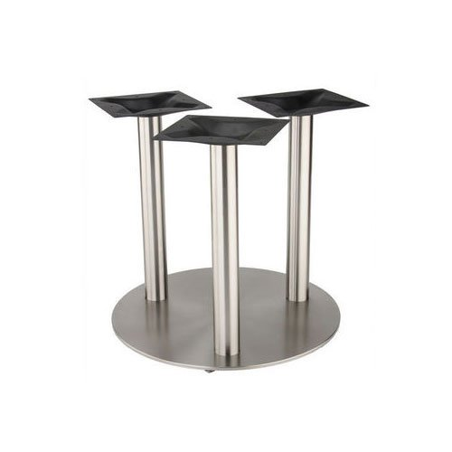 "Peter Meier 30"" Round Tri-Leg Table Base - Stainless Steel 40-3/8"" H 4030-43-SS-TRI"