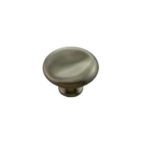 MNG Hardware Vanilla 1-1/2 Inch Diameter Satin Antique Nickel Cabinet Knob 16421