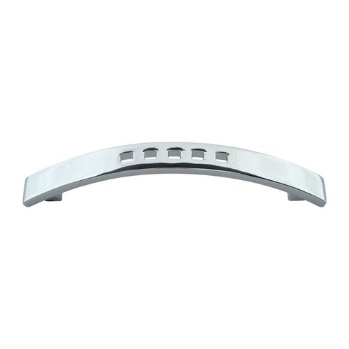Successi 3-3/4 Inch Center to Center Polished Chrome Cabinet Pull <small>(#A807-CH)</small>