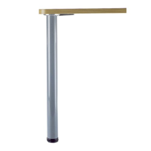 "Peter Meier Hamburg Table Leg Set Brushed Steel 27-3/4""H 615-70-ST"