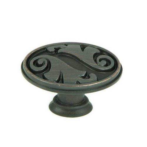 Stone Mill Hardware Meadow Brook 1-1/2 Inch Diameter Oil Rubbed Bronze Cabinet Knob CP81097-OB