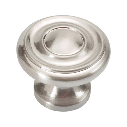 Hickory Hardware Williamsburg 1-1/4 Inch Diameter Satin Nickel Cabinet Knob P3500-SN