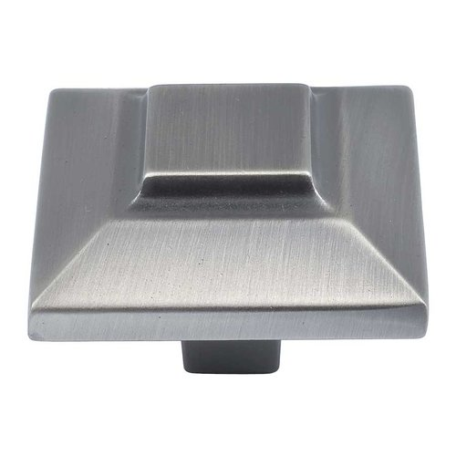 Atlas Homewares Trocadero 1-1/2 Inch Diameter Pewter Cabinet Knob 4002-P