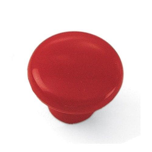Laurey Hardware Plastics 1-1/4 Inch Diameter Red Cabinet Knob 34638