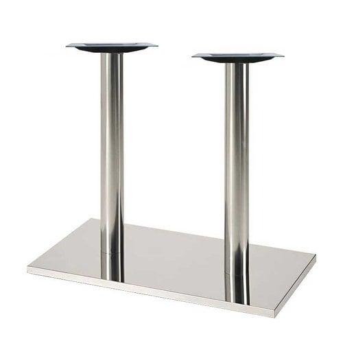 """Peter Meier 16"""" X 28"""" Rectangular Table Base - Stainless Steel 28-5/8"""" H 50RE-28-SS"""