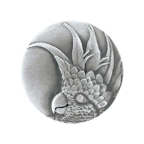 Notting Hill Tropical 2 Inch Diameter Antique Pewter Cabinet Knob NHK-327-AP-R