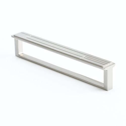 Berenson Oak Park 6-5/16 Inch Center to Center Brushed Nickel Cabinet Pull 9217-1BPN-P