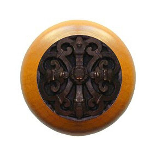 Notting Hill Olde World 1-1/2 Inch Diameter Dark Brass Cabinet Knob NHW-776M-DB