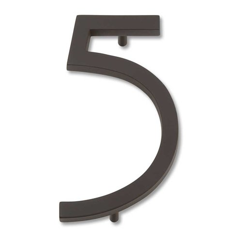 Modern Avalon House Number Five Aged Bronze <small>(#AVN5-O)</small>