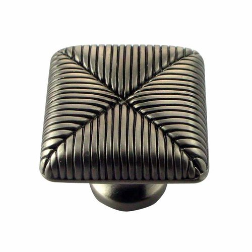 MNG Hardware Textures 1 Inch Diameter Satin Antique Nickel Cabinet Knob 10711