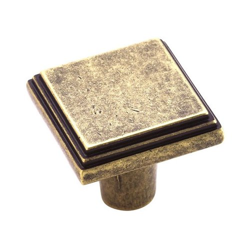 Amerock Manor 1 Inch Diameter Weathered Brass Cabinet Knob BP26117R2