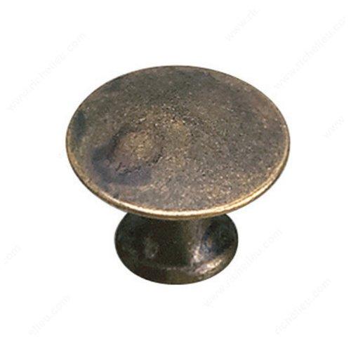 Richelieu Povera 1 Inch Diameter Oxidized Brass Cabinet Knob 2445925163