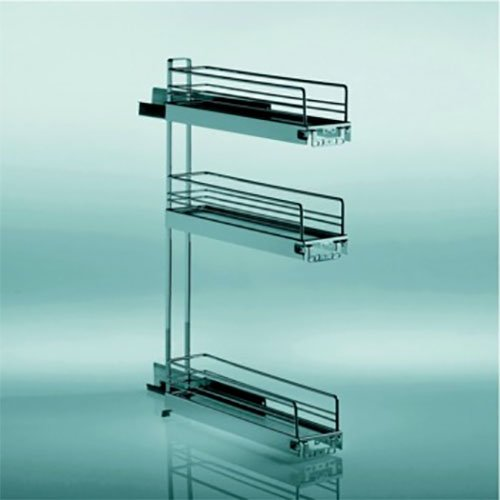 Kessebohmer 3 Tier Base Pullout 90 Degree Chrome 545.61.233
