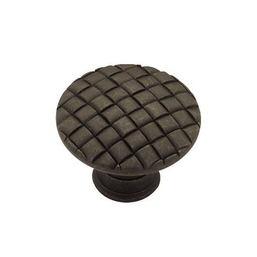 Liberty Hardware Contempo 1-3/16 Inch Diameter Distressed Oil Rubbed Bronze Cabinet Knob PN0416-OB-C