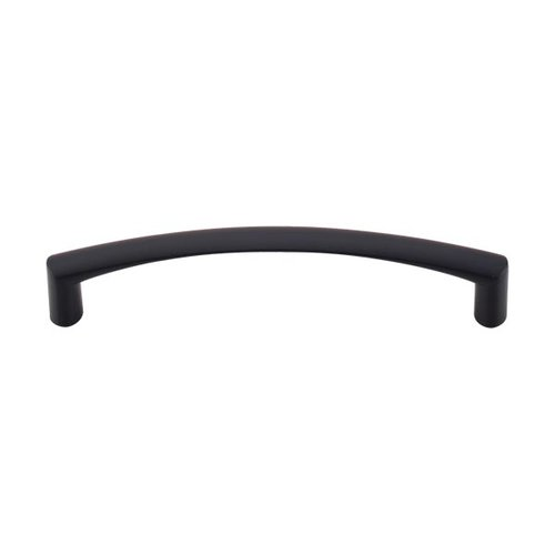 Top Knobs Nouveau 5-1/16 Inch Center to Center Flat Black Cabinet Pull M393