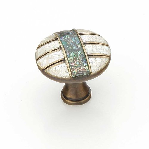 Schaub and Company Fair Isle 1-3/8 Inch Diameter Aged Dover Cabinet Knob 653-AD