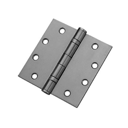 Mort. Heavy Ball Bearing Hinge 4-1/2 inch x 4-1/2 inch Satin Chrome <small>(#HWBB84545-626)</small>