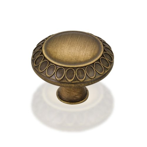 Jeffrey Alexander Symphony 1-3/8 Inch Diameter Antique Brushed Satin Brass Cabinet Knob 1977S-ABSB