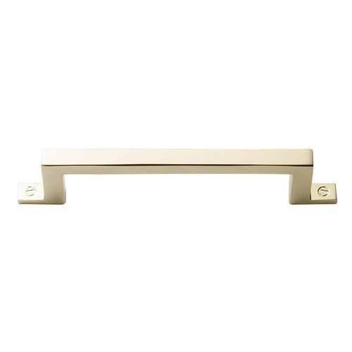 Atlas Homewares Campaign Bar Pull 3-3/4 inch Center to Center Polished Brass 385-PB