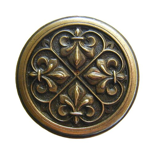 Notting Hill Olde Worlde 1-3/8 Inch Diameter Antique Brass Cabinet Knob NHK-160-AB