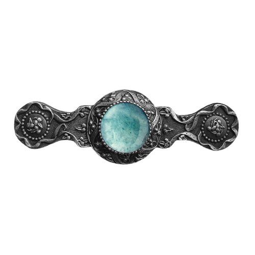 Jewel 3 Inch Center to Center Antique Pewter Cabinet Pull <small>(#NHP-624-AP-GA)</small>