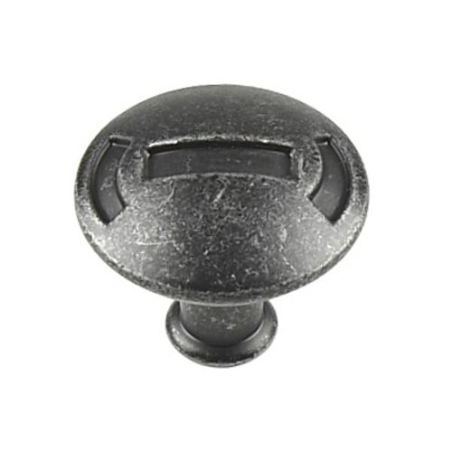 Century Hardware Medieval 1-3/16 Inch Diameter Vibra Pewter Cabinet Pull 25115-VP