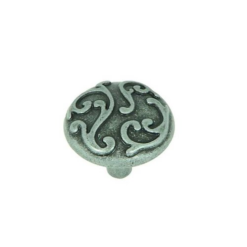Stone Mill Hardware Meadow Brook 1-1/8 Inch Diameter Swedish Iron Cabinet Knob CP82460H-SI