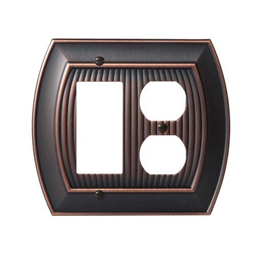 Allison One Rocker, 1 Receptacle Wall Plate Oil Rubbed Bronze <small>(#BP36539ORB)</small>
