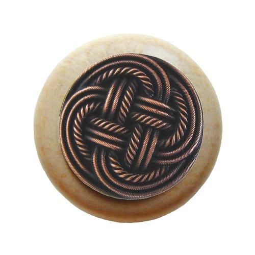Notting Hill Classic 1-1/2 Inch Diameter Antique Copper Cabinet Knob NHW-739N-AC