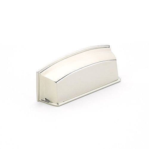 Schaub and Company Menlo Park 3-1/2 Inch Center to Center Polished Nickel Cabinet Cup Pull 534-PN