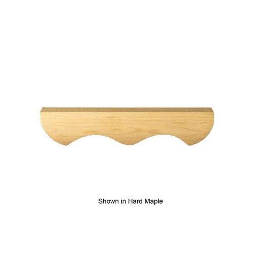 Brown Wood Hampton Bun Foot Center Moulding Unfinished Alder 01703310AL1