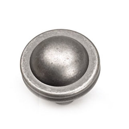 Kama 1-1/4 Inch Diameter Antique Pewter Cabinet Knob <small>(#23806)</small>