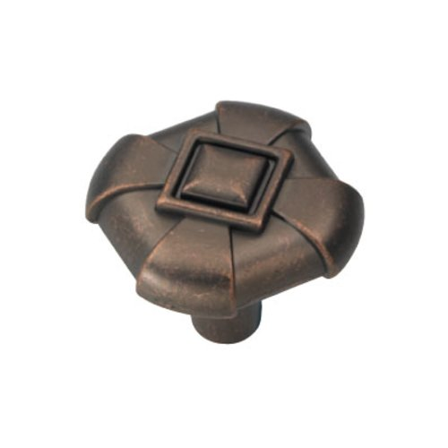 Hickory Hardware Chelsea 1-1/8 Inch Diameter Dark Antique Copper Cabinet Knob P3455-DAC