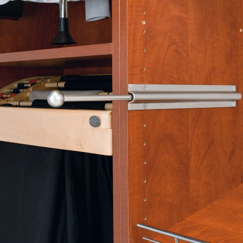 Rev-A-Shelf Standard Valet Rod-Satin Nickel CVL-12-SN