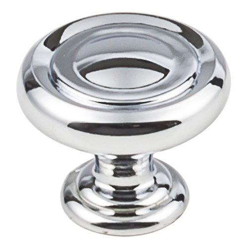 "Jeffrey Alexander Bremen 1 Cabinet Knob 1-1/4"" Dia Polished Chrome 117PC"