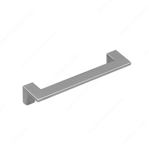 Richelieu Sleek 5-1/16 Inch Center to Center Matte Chrome Cabinet Pull 21691128174