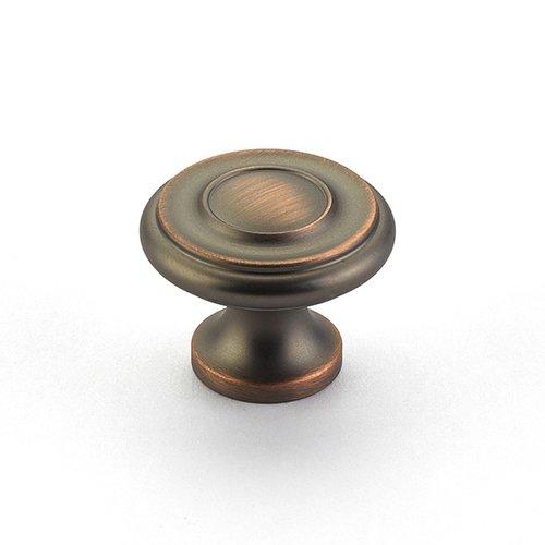 Schaub and Company Colonial 1-1/2 Inch Diameter Aurora Bronze Cabinet Knob 704-AUB