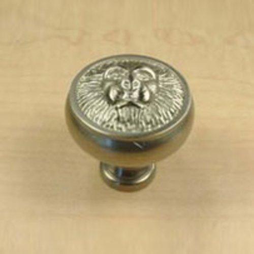 Century Hardware Roman 1-1/2 Inch Diameter Matte Satin Nickel Cabinet Knob 19308-MSN