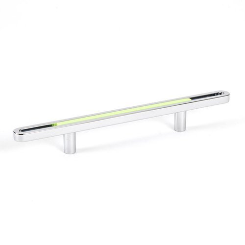 R. Christensen Dash 3-3/4 Inch Center to Center Lime Polished Chrome Cabinet Pull 9747-1000-P