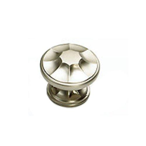 Schaub and Company Empire Designs 1-3/8 Inch Diameter Satin Nickel Cabinet Knob 876-15