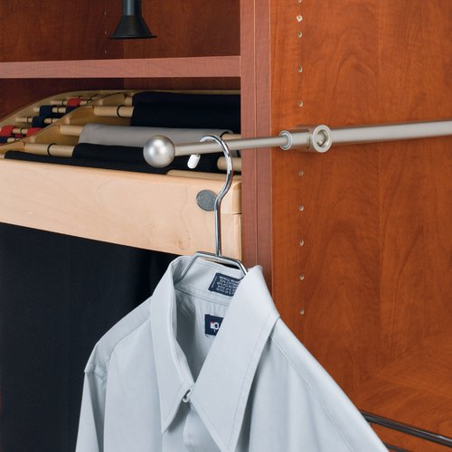 "Rev-A-Shelf Designer Series 14"" Valet Rod Satin Nickel CVR-14-SN"