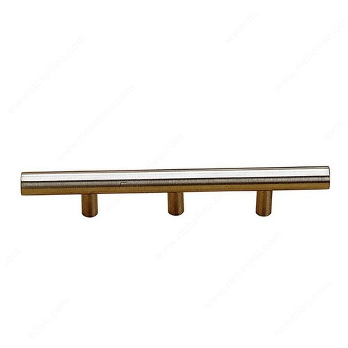 Richelieu Bar Pulls 34-1/8 Inch Center to Center Stainless Steel Cabinet Pull BP3487867170