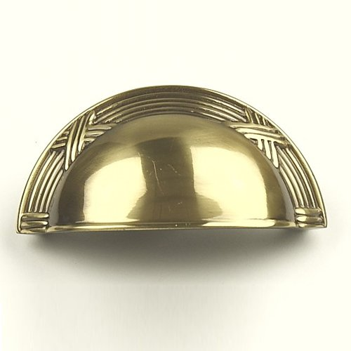 Century Hardware Georgian 3 Inch Center to Center Polished Antique Cabinet Cup Pull 15543-PA