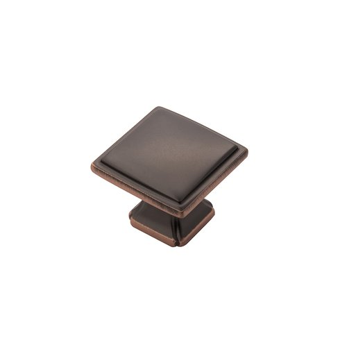 "Hickory Hardware Bridges Knob 1-1/4"" Dia Oil Rubbed Bronze Highlighted P3240-OBH"