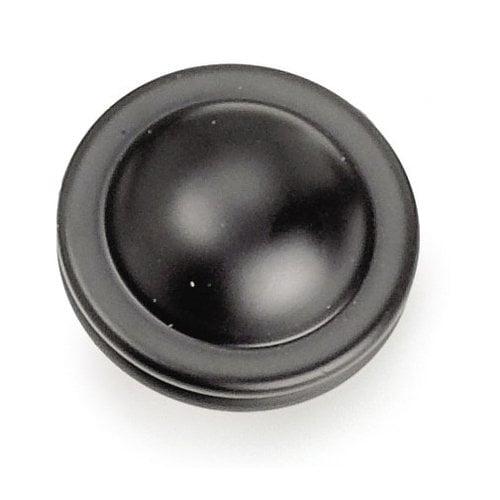 Laurey Hardware Kama 1-1/4 Inch Diameter Matte Black Cabinet Knob 23820