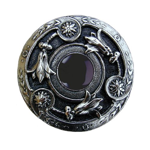 Notting Hill Jewel 1-1/4 Inch Diameter Brite Nickel Cabinet Knob NHK-161-BN-O