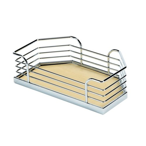 "Kessebohmer Arena Plus Chefs Pantry Door Tray Set 17-1/8"" W Chrome/Maple 546.64.193"